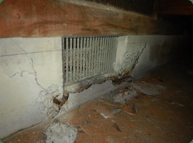 基礎コンクリートの爆裂